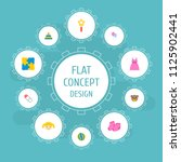 set of baby icons flat style... | Shutterstock .eps vector #1125902441