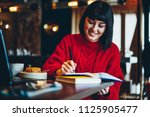 young smiling trendy hipster...   Shutterstock . vector #1125905477