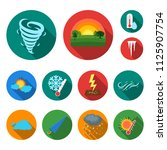 different weather flat icons in ...   Shutterstock .eps vector #1125907754