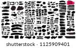 big set of black paint  ink... | Shutterstock .eps vector #1125909401