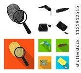 a fingerprint study  a folding... | Shutterstock .eps vector #1125912515