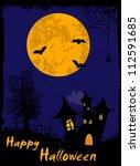 grungy halloween background... | Shutterstock .eps vector #112591685