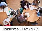 overhead shot of high school... | Shutterstock . vector #1125921914