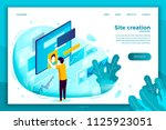 vector concept illustration   ... | Shutterstock .eps vector #1125923051