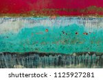 background of rusty  red  blue  ... | Shutterstock . vector #1125927281