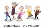 vector cartoon illustration of... | Shutterstock .eps vector #1125927335