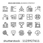 business strategy  bold line... | Shutterstock .eps vector #1125927611