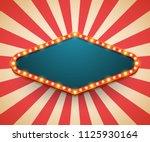 light frame shining retro... | Shutterstock .eps vector #1125930164