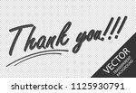 thank you    3d letters   gray... | Shutterstock .eps vector #1125930791