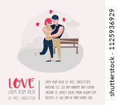 couple in love characters for... | Shutterstock .eps vector #1125936929