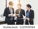 new asian business operators...   Shutterstock . vector #1125939584