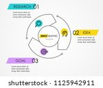 infographic template with...   Shutterstock .eps vector #1125942911