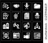 set of 16 icons such as website ...