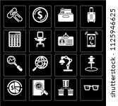 set of 16 icons such as reading ...