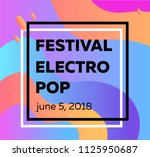 electronic music fest and... | Shutterstock .eps vector #1125950687
