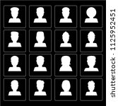 set of 16 icons such as man ... | Shutterstock .eps vector #1125952451