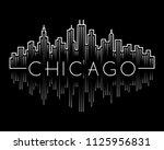 chicago city skyline concept...   Shutterstock .eps vector #1125956831