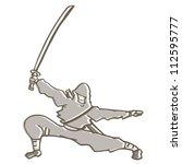 ninja attack   Shutterstock .eps vector #112595777
