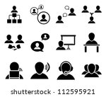 Office And People Icon Set....