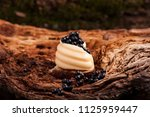 black caviar with margarine | Shutterstock . vector #1125959447