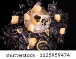 black caviar with margarine | Shutterstock . vector #1125959474