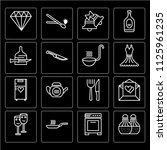 set of 16 icons such as salt... | Shutterstock .eps vector #1125961235