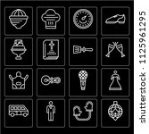 set of 16 icons such as disco... | Shutterstock .eps vector #1125961295
