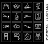 set of 16 icons such as salt...