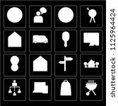 set of 16 icons such as bbq ...