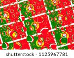 flags  of portugal  behind a...   Shutterstock . vector #1125967781
