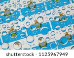 flags  of san marino  behind a...   Shutterstock . vector #1125967949