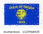flag of american state oregon...   Shutterstock . vector #1125968435