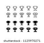 trophy icon design vector...   Shutterstock .eps vector #1125970271