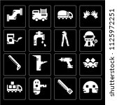 set of 16 icons such as valve ...
