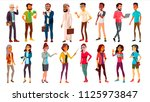 multinational people set vector.... | Shutterstock .eps vector #1125973847