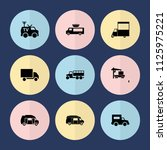 set of 9 van filled icons such... | Shutterstock .eps vector #1125975221