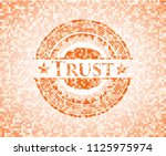 trust orange mosaic emblem | Shutterstock .eps vector #1125975974