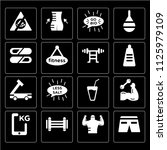 set of 16 icons such as shorts  ...