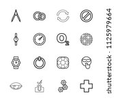 circle icon. collection of 16... | Shutterstock .eps vector #1125979664