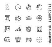 minute icon. collection of 16... | Shutterstock .eps vector #1125979715