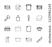 utensil icon. collection of 16... | Shutterstock .eps vector #1125981245