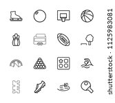 recreation icon. collection of... | Shutterstock .eps vector #1125983081