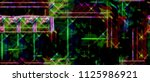 color widescreen grunge painted ... | Shutterstock . vector #1125986921