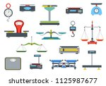 flat store weigher. collection... | Shutterstock .eps vector #1125987677