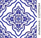 porcelain wallpaper in baroque... | Shutterstock .eps vector #1125992264