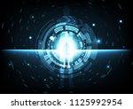 digital technology gate... | Shutterstock .eps vector #1125992954