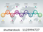 abstract 3d infographic... | Shutterstock .eps vector #1125994727
