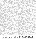 flower pattern. seamless white...   Shutterstock . vector #1126005161