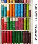 colours of bangles  | Shutterstock . vector #1126014041