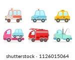flat vector set of various... | Shutterstock .eps vector #1126015064